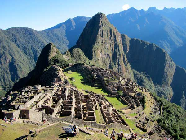 Machu Picchu, one of the seven new wonders of the modern world.