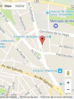 Location In Cusco Mapa Hotel Warari